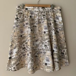 Retrolicious Know Your Routes skirt